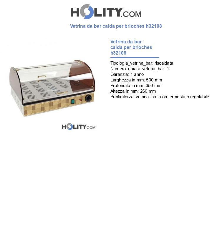 Vetrina da bar calda per brioches h32108