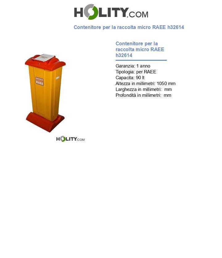 Contenitore per la raccolta micro RAEE h32614