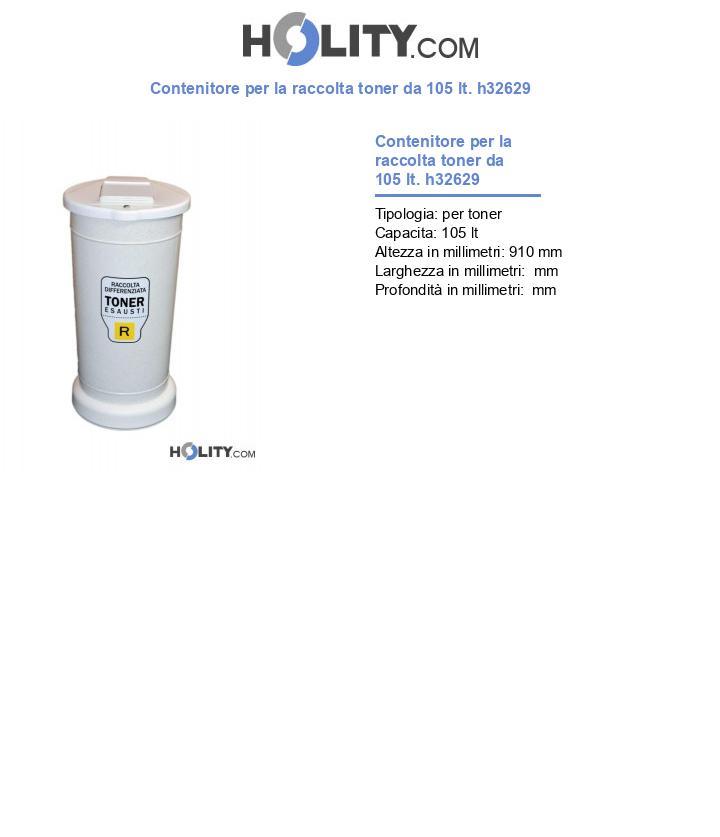 Contenitore per la raccolta toner da 105 lt. h32629