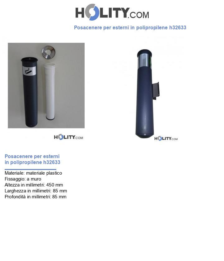 Contenitore posacenere per esterni h32633