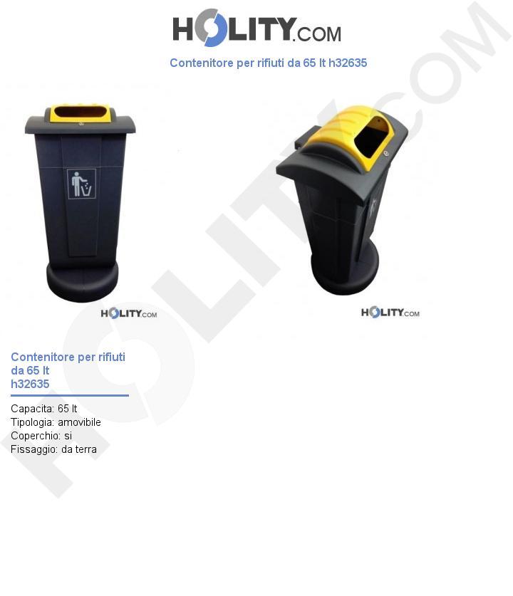 Contenitore per rifiuti da 65 lt h32635
