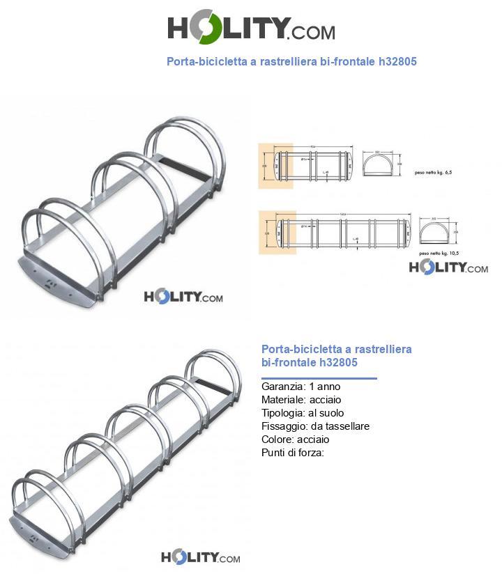 Porta-bicicletta a rastrelliera bi-frontale h32805