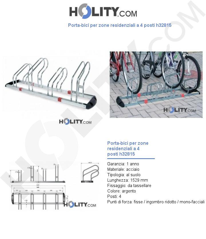 Porta-bici per zone residenziali a 4 posti h32815