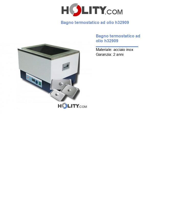 Bagno termostatico ad olio h32909