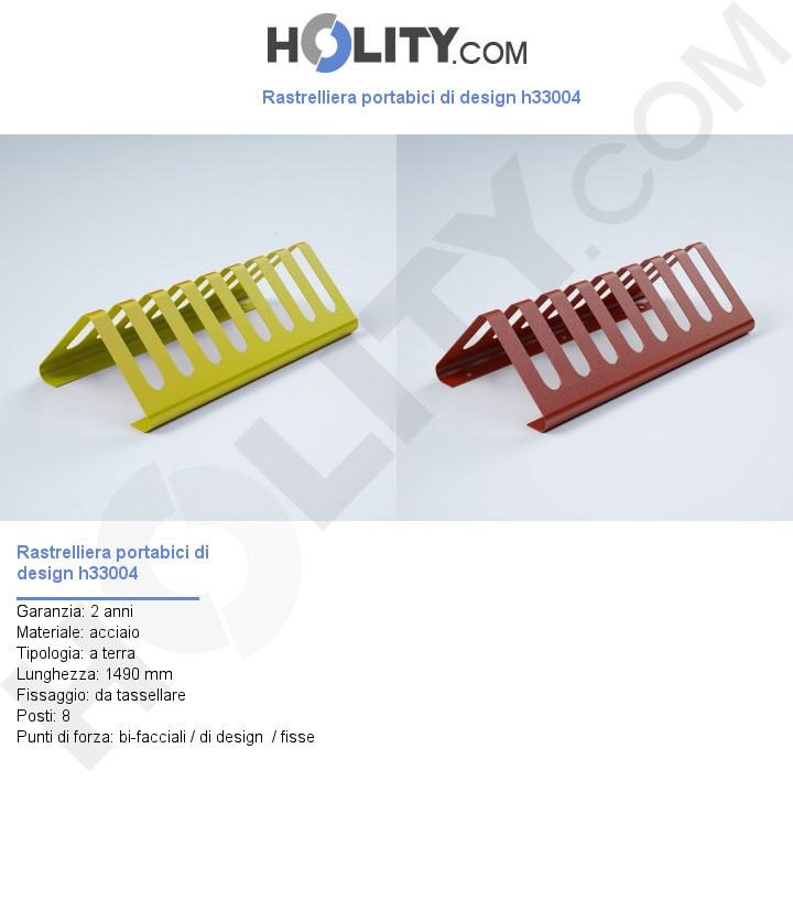 Rastrelliera portabici di design h33004