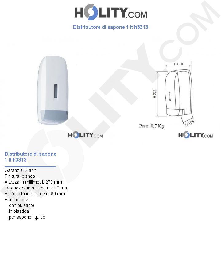 Distributore di sapone 1 lt h3313