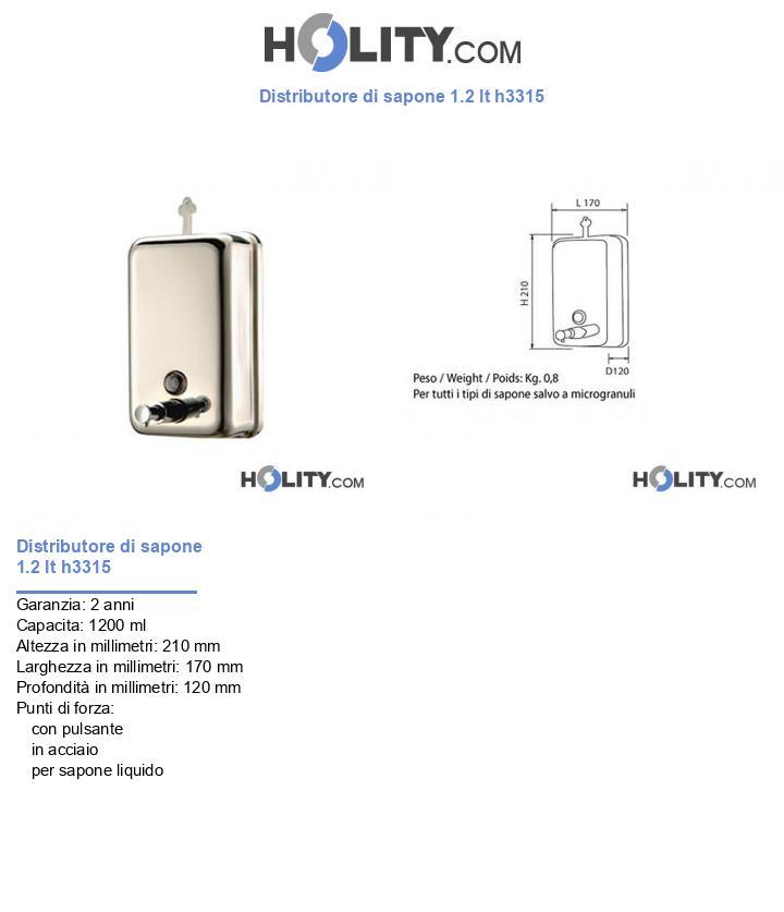 Distributore di sapone 1.2 lt h3315