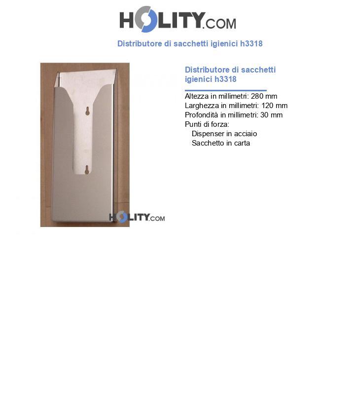 Distributore di sacchetti igienici h3318