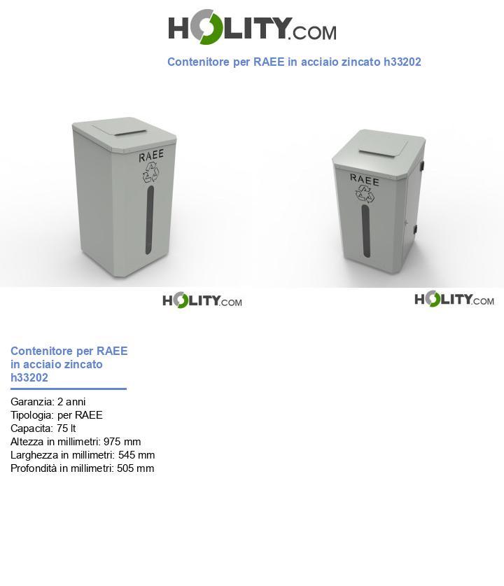 Contenitore per RAEE in acciaio zincato h33202