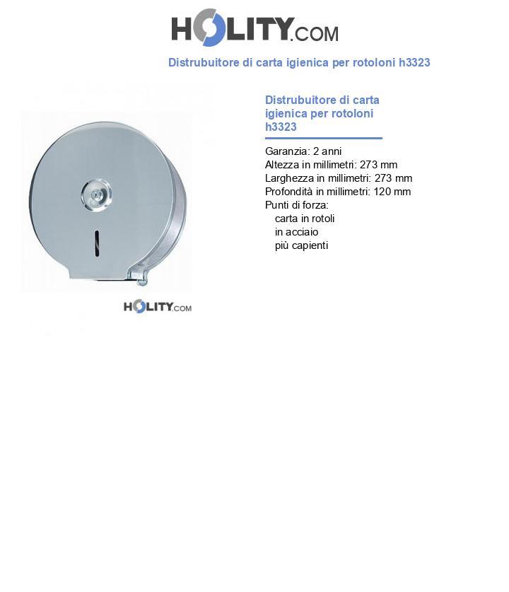 Distrubuitore di carta igienica per rotoloni h3323