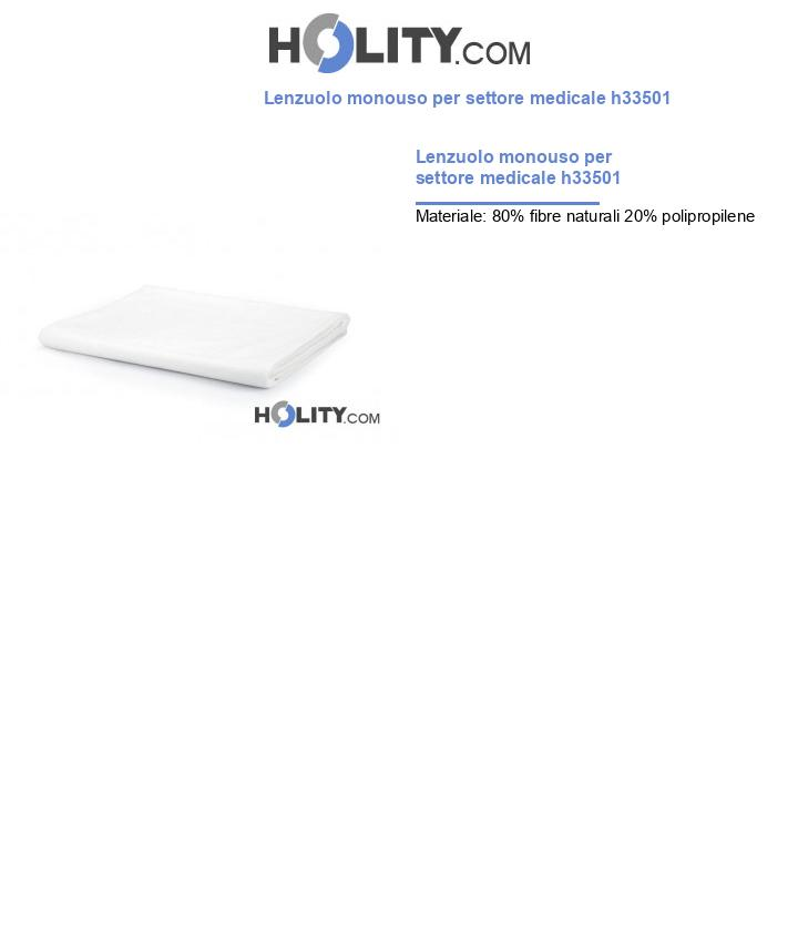 Lenzuolo monouso per settore medicale h33501