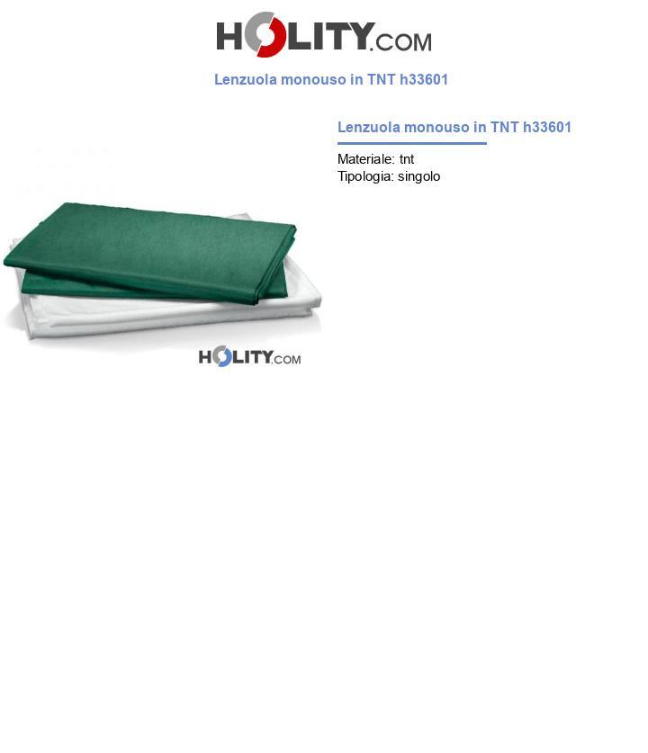 Lenzuola monouso in TNT h33601