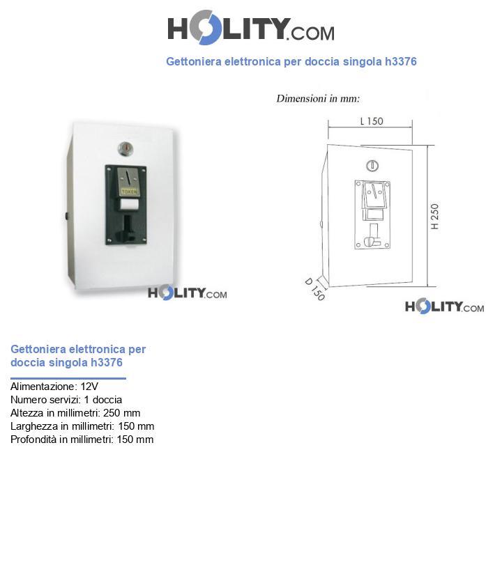 Gettoniera elettronica per doccia singola h3376