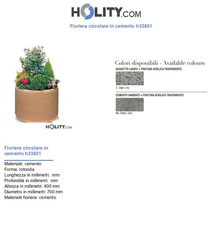 Fioriera circolare in cemento h33801