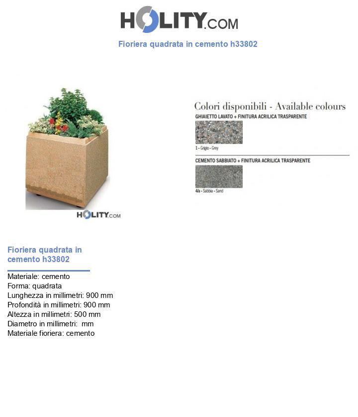 Fioriera quadrata in cemento h33802