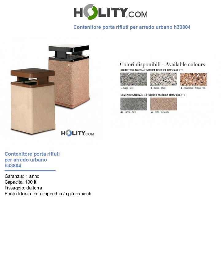 Contenitore porta rifiuti per arredo urbano h33804