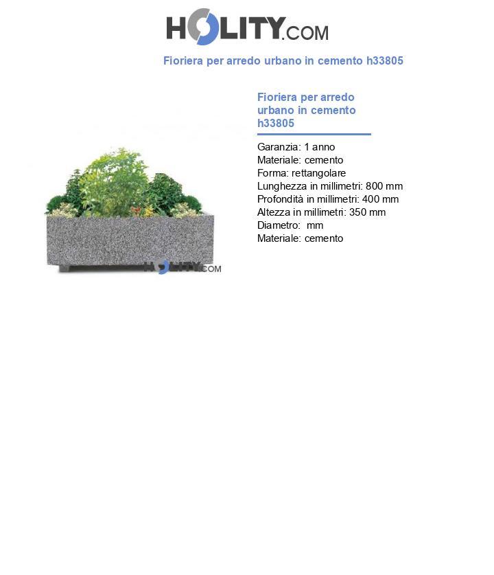 Fioriera per arredo urbano in cemento h33805