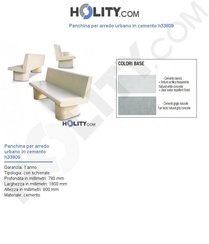 Panchina per arredo urbano in cemento h33809