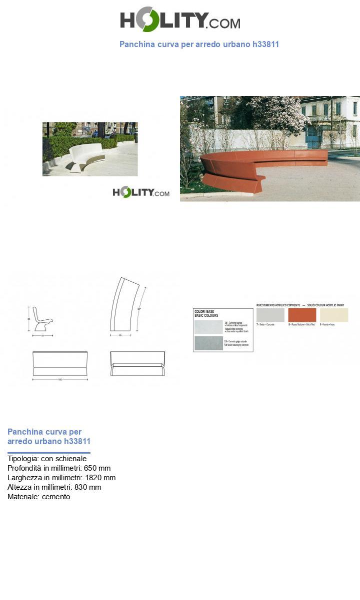 Panchina curva per arredo urbano h33811