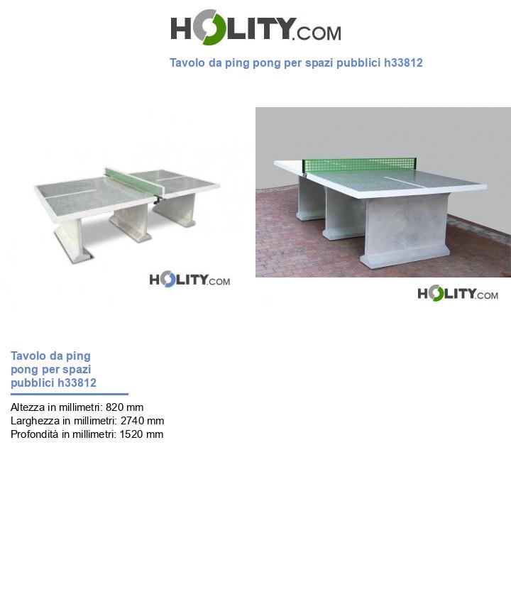Tavolo da ping pong per spazi pubblici h33812