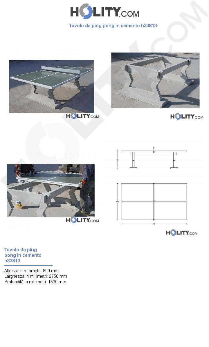 Tavolo da ping pong in cemento h33813