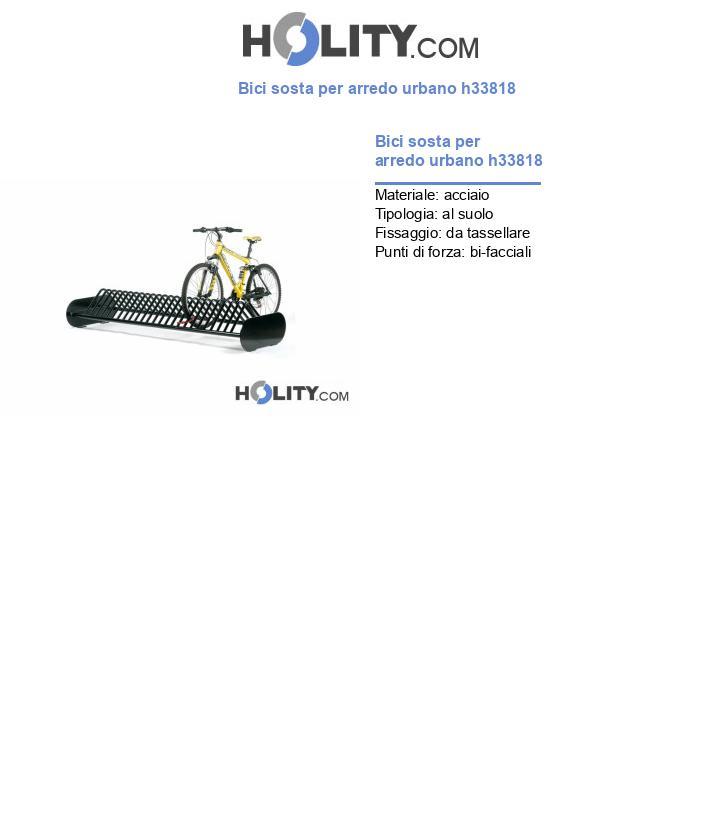 Bici sosta per arredo urbano h33818