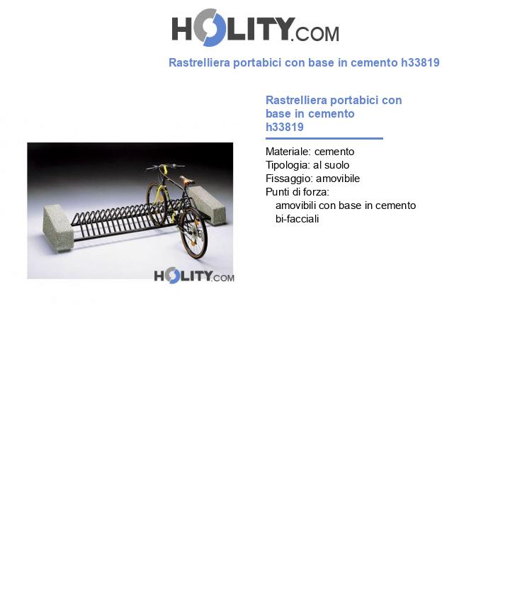 Rastrelliera portabici con base in cemento h33819