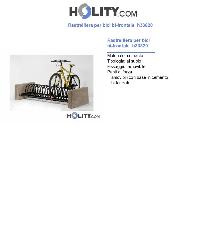 Rastrelliera per bici bi-frontale  h33820