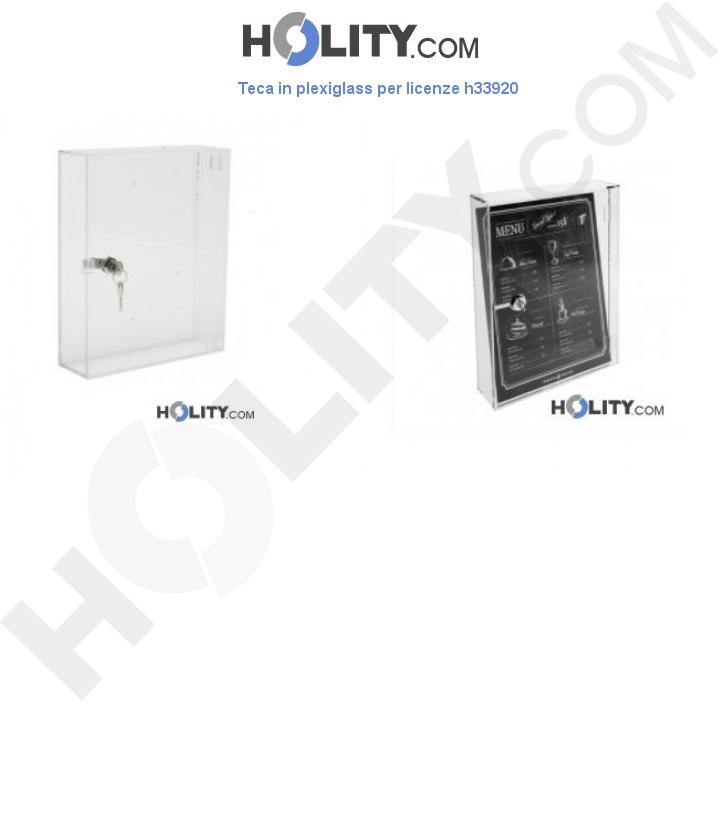 Teca in plexiglass per licenze h33920