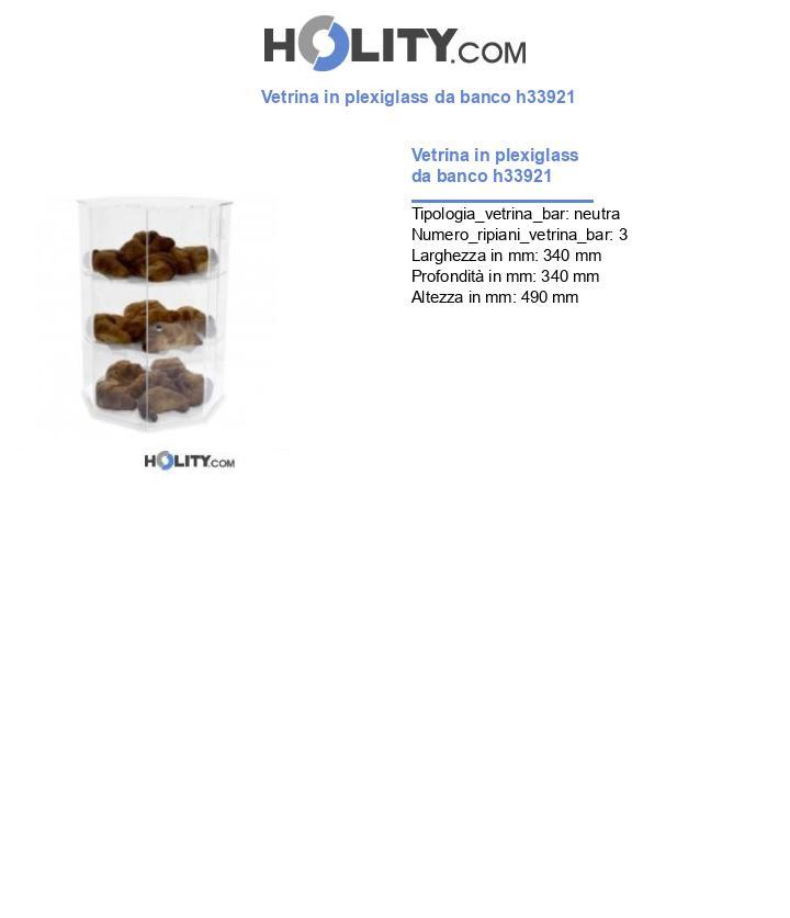 Vetrina in plexiglass da banco h33921