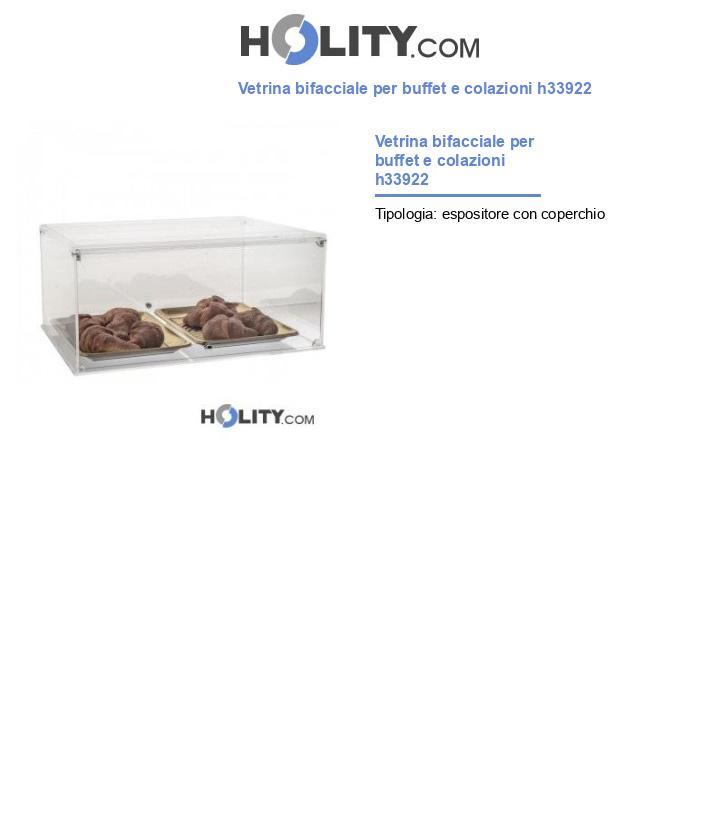 Vetrina bifacciale per buffet e colazioni h33922