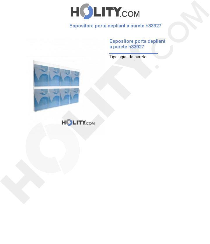 Espositore porta depliant a parete h33927
