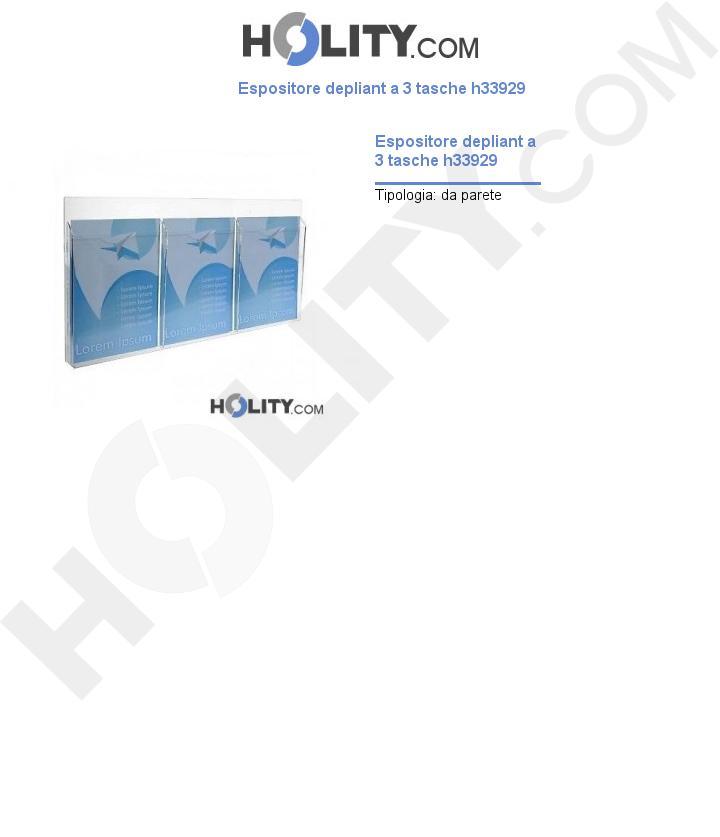 Espositore depliant a 3 tasche h33929