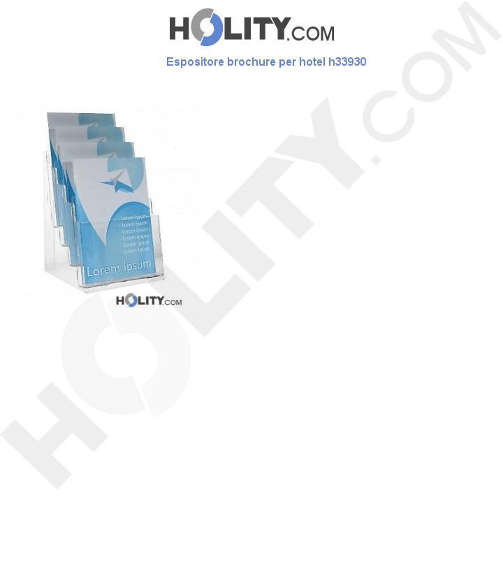 Espositore brochure per hotel h33930