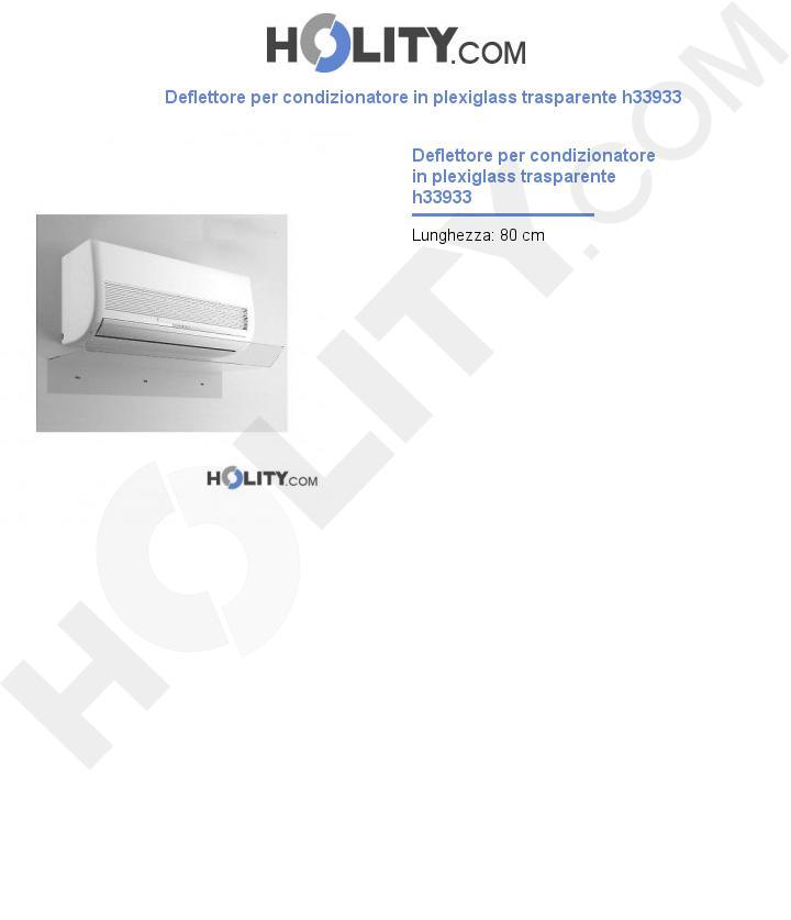 Deflettore per condizionatore in plexiglass trasparente L.80 cm h33933