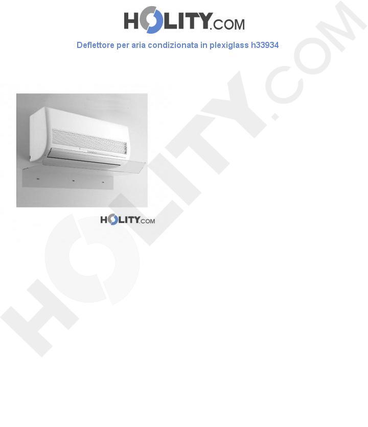 Deflettore per aria condizionata in plexiglass L.70 cm h33934