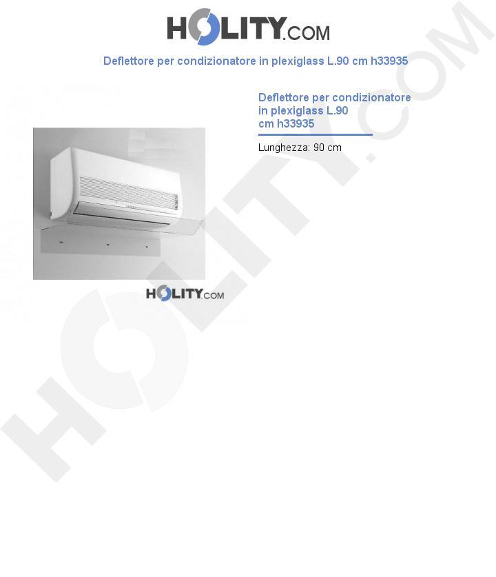 Deflettore per condizionatore in plexiglass L.90 cm h33935