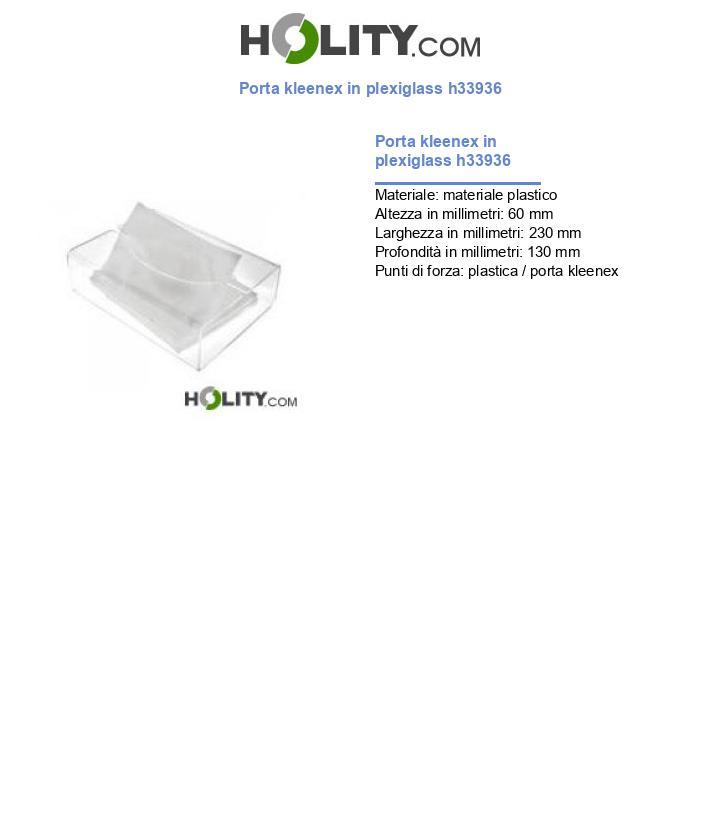 Porta kleenex in plexiglass h33936