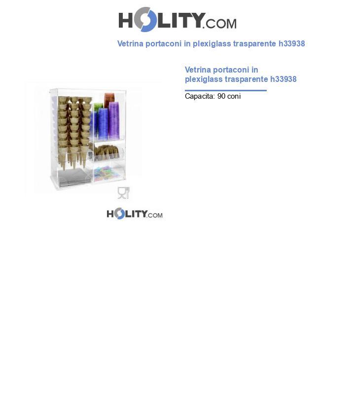 Vetrina portaconi in plexiglass trasparente h33938