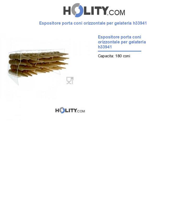 Espositore porta coni orizzontale per gelateria h33941