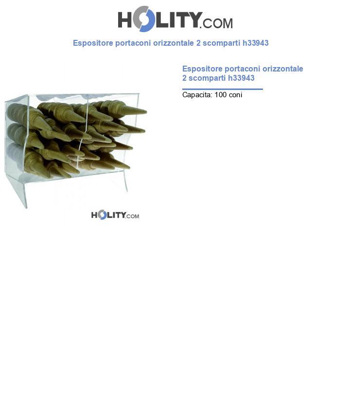Espositore portaconi orizzontale 2 scomparti h33943