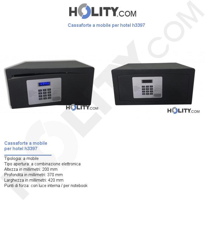 Cassaforte a mobile per hotel h3397