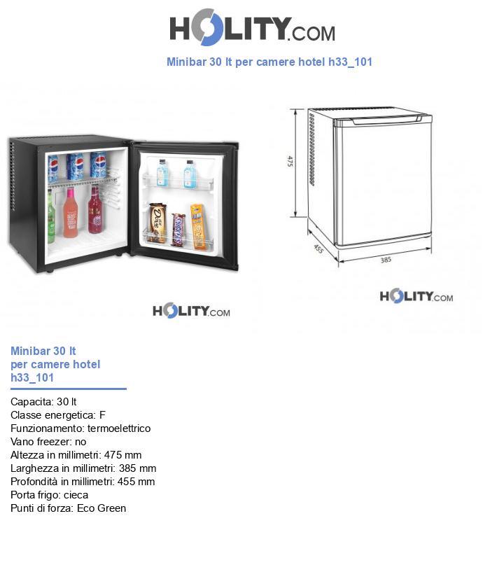 Minibar 30 lt per camere hotel h33_101