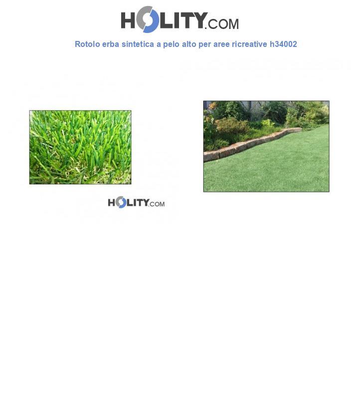 Rotolo erba sintetica a pelo alto per aree ricreative h34002