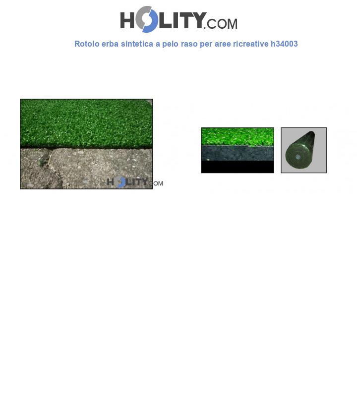 Rotolo erba sintetica a pelo raso per aree ricreative h34003