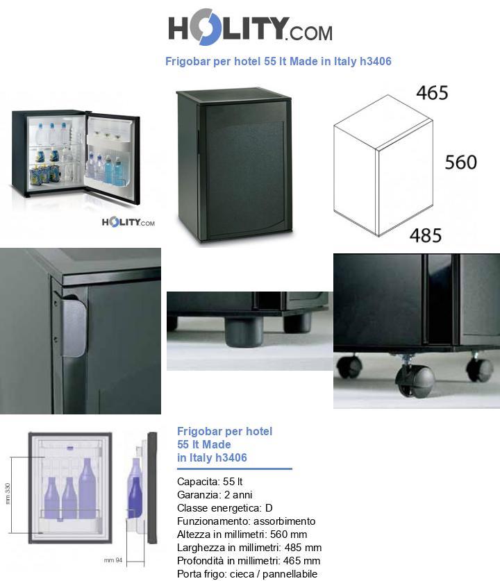 Frigobar per hotel 55 lt Made in Italy h3406