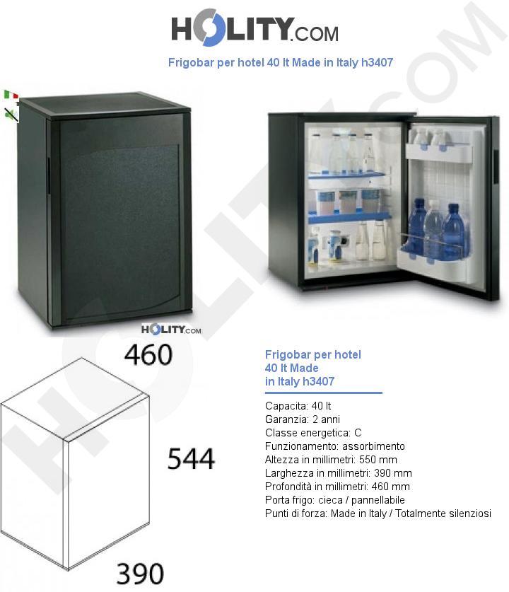 Frigobar per hotel 40 lt Made in Italy h3407
