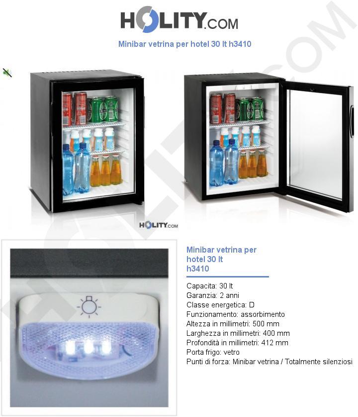 Minibar vetrina per hotel 30 lt h3410