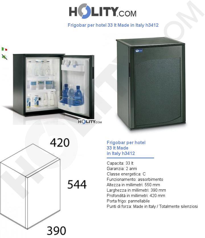 Frigobar per hotel 33 lt Made in Italy h3412