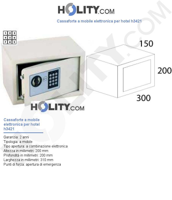 Cassaforte a mobile elettronica per hotel h3421